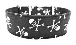 Halsband Pirate Skulls schwarz