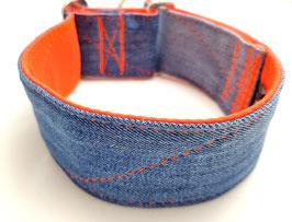 Halsband Jeans upcycling orange / 4.