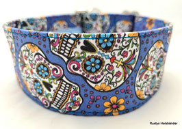 Halsband Mexican blau / Skulls
