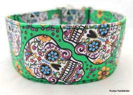 Halsband Mexican grün / Skulls
