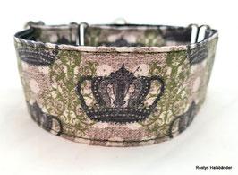 Halsband Crown grün-schwarz / 38.