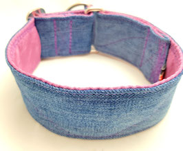 Halsband Jeans upcycling rosa / 3.