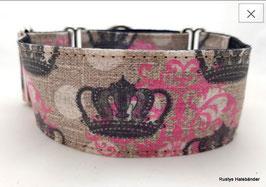 Halsband Crown pink-schwarz / 37.