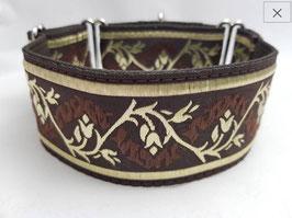 Halsband Barock braun/gold / Schmuckborte 38.