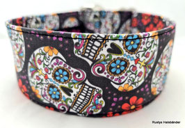 Halsband Mexican schwarz / Skulls