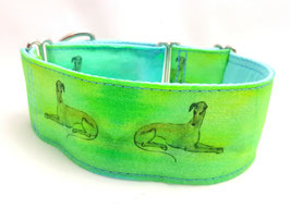 Halsband Windhund / 21. Windhund grün
