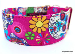 Halsband Mexican pink / Skulls