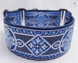Halsband Celtic blau / Schmuckborte 27.