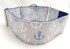 Halsband Anker grau / 48.