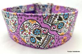 Halsband Mexican lila / Skulls