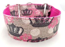 Halsband Crown pink / 36.