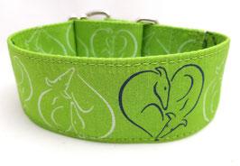 Halsband Windhund / 12. Herz grün