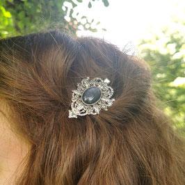 Haarclip Victorian silber