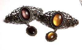 Haarspange Victorian Oval Tropfen bronze