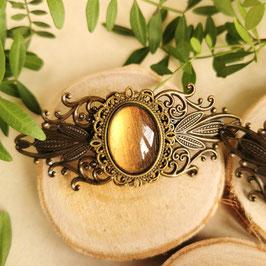 Haarspange Jugendstil bronze Oval