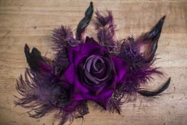 Haarspange Samtrose lila