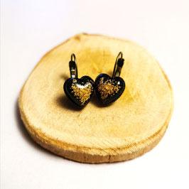 Ohrringe Herz mit Gold