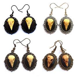 Ohrringe Vogelschädel 13x18
