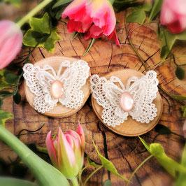 Haarclip Schmetterling weiß
