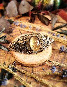 Haarspange Victorian bronze Oval