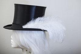 Hutfeder weiß groß Strauß