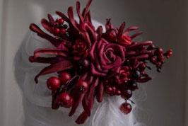 Haarspange rot Beeren