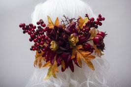 Haarspange Herbst rot orange