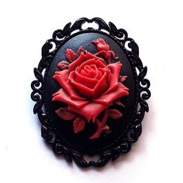 Große Brosche Rose