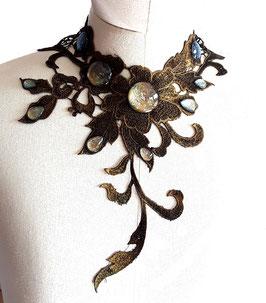 Collier Steampunk Blumenranke asymmetrisch