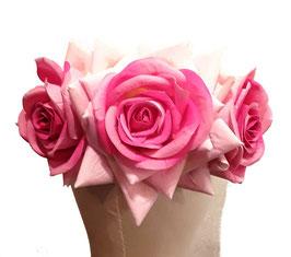 Blumenkranz Rosen groß Rosa