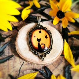 Anhänger Herbstkatze schwarz