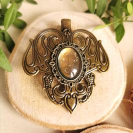 Haarclip Jugendstil bronze Oval klein