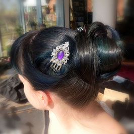 Haarkamm Victorian silber