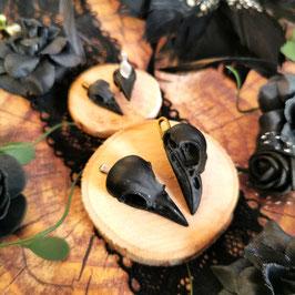 Anhänger Vogelschädel schwarz