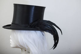 Hutfeder schwarz groß Hahn