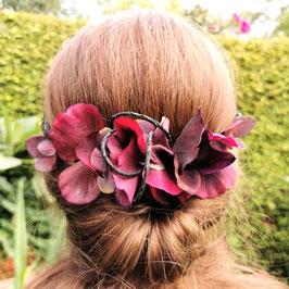 Blumenkranz Jungfer burgund