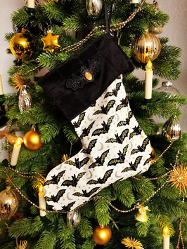Christmas Stocking goldene Fledermaus