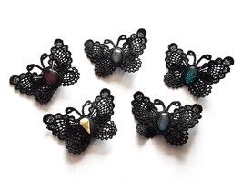 Haarspange Schmetterling mit Stein