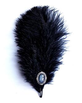 Hutfeder schwarz groß Strauß