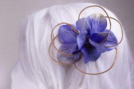 Kleine blaue Blumenklemme