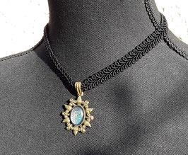 Halsband Posamentenborte Stern einfach bronze