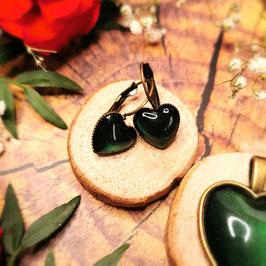 Ohrringe Herz bronze