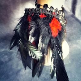 Epauletten schwarz rot
