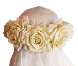 Blumenkranz Rosen groß Cremeweiß