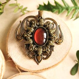 Haarclip Jugendstil bronze Stern