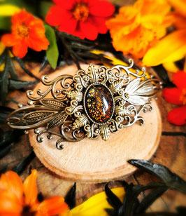 Haarspange Jugendstil bronze Stern
