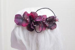 Blumenkranz Jungfer dunkelrot - lila