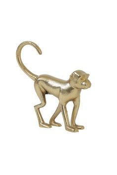 Ornament Monkey mat goud
