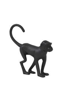 Ornament Monkey mat zwart