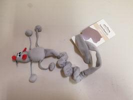 Speelgoed muis lichtgrijs